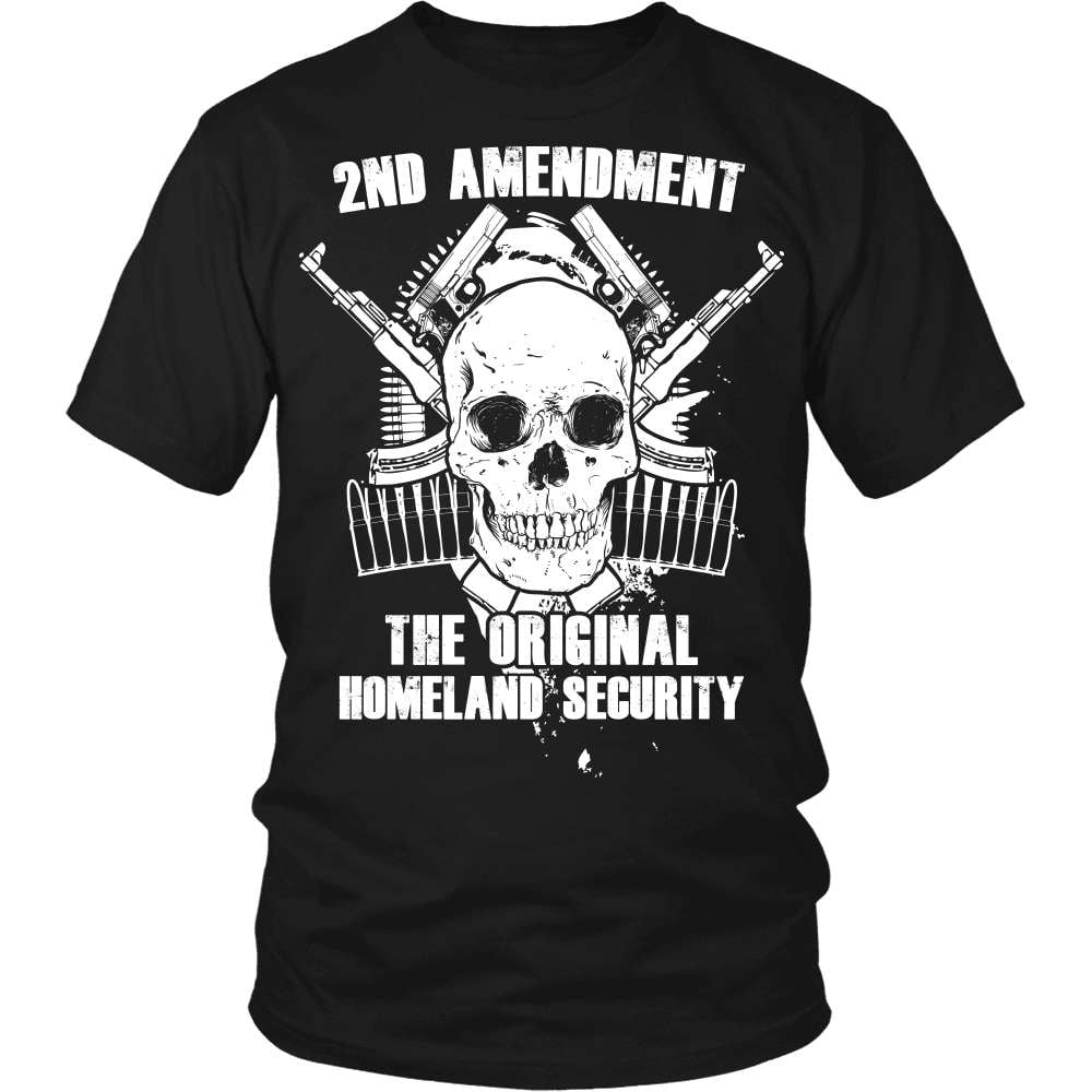 Gun T-Shirt Design - The Original Homeland Security - snazzyshirtz.com