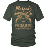 Gun T-Shirt Design - Blessed Are The Peacemakers!