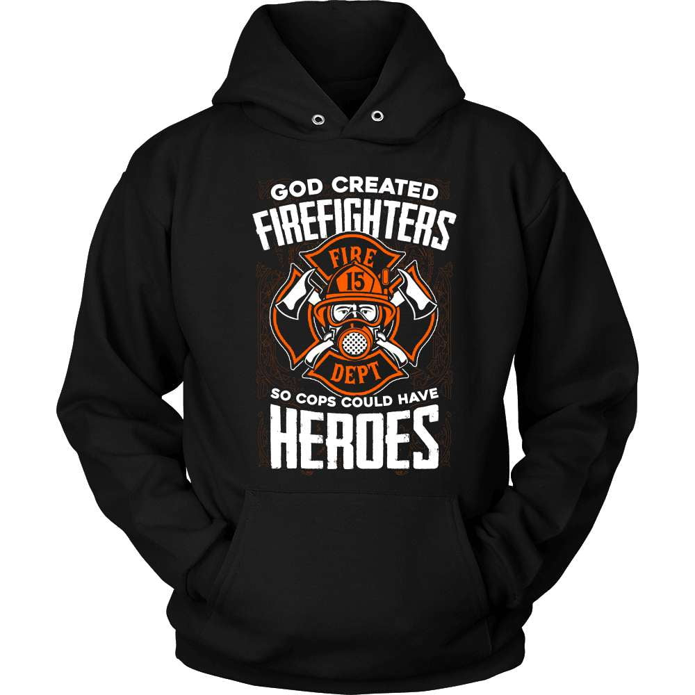 Firefighter T-Shirt Design - God Created. - snazzyshirtz.com
