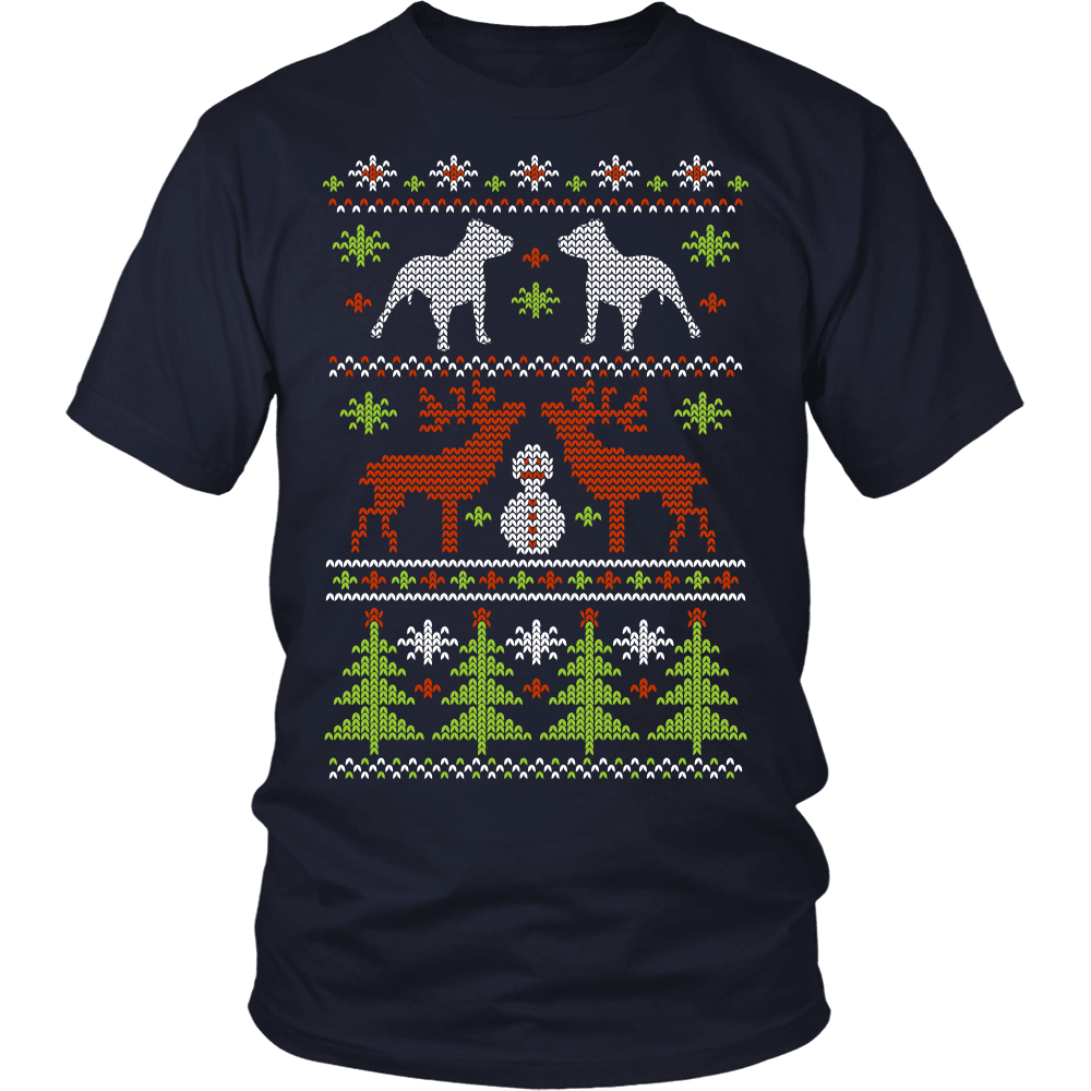 Christmas Pitbull T-Shirt Design
