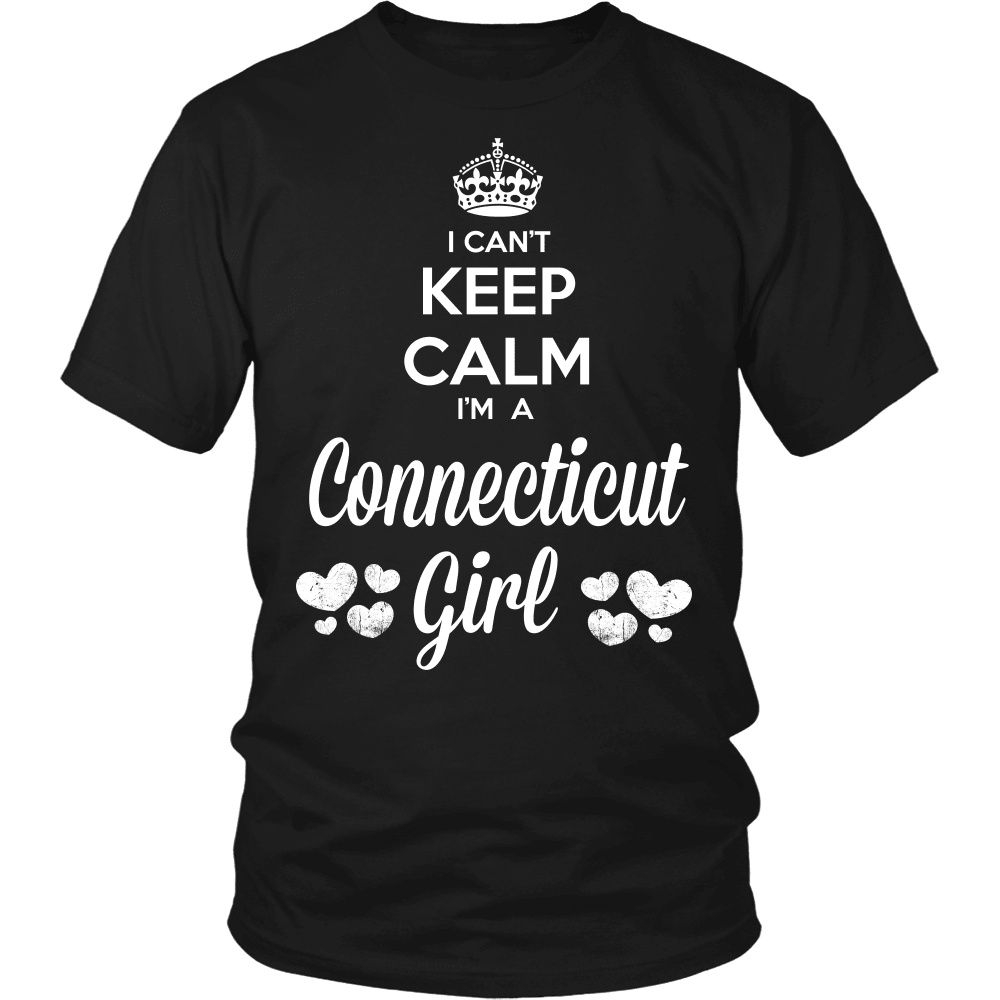 Connecticut T-Shirt Design - Can't Keep Calm Connecticut Girl