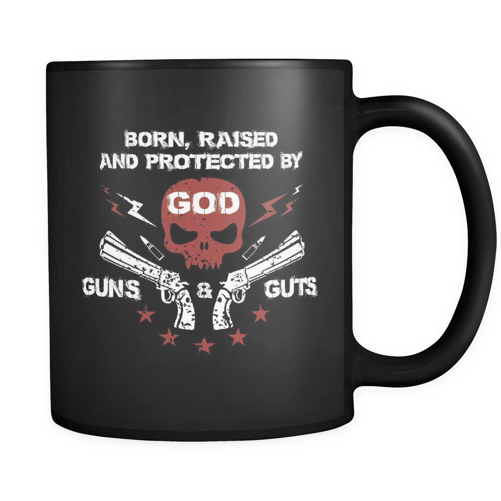 God, Guns And Guts - Luxury Mug