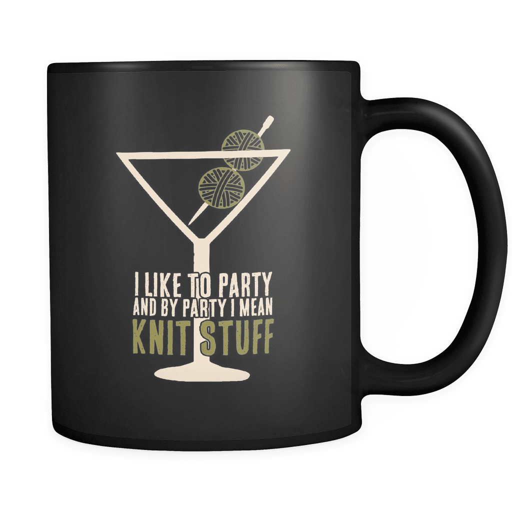 I Like To Party - Luxury Knitting Mug