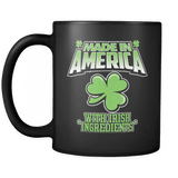 Made In America With Irish Ingredients - Luxury Mug