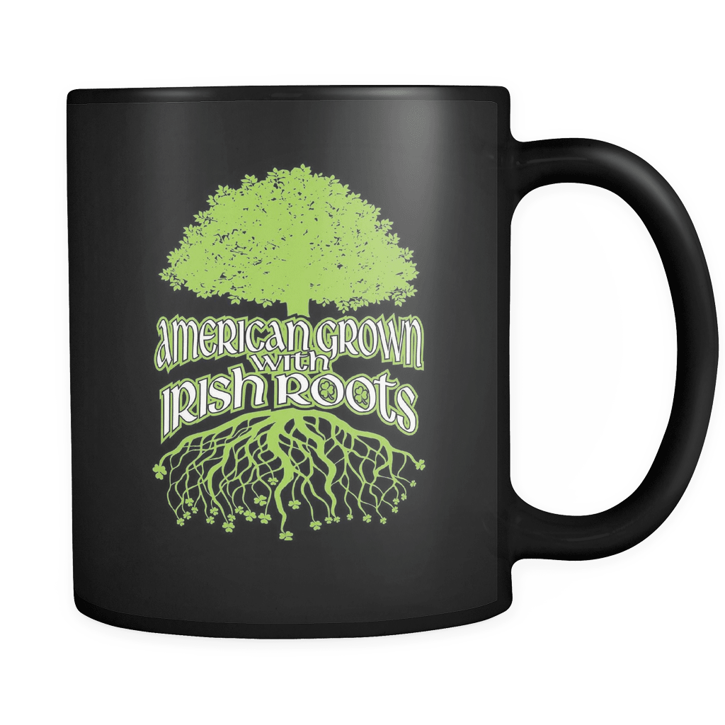 American Grown With Irish Roots - Luxury Mug - snazzyshirtz.com