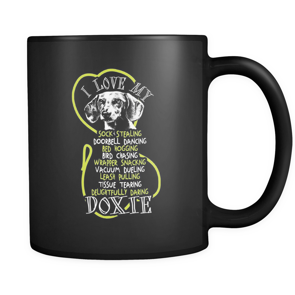 I Love My Doxie - Luxury Dachshund Mug