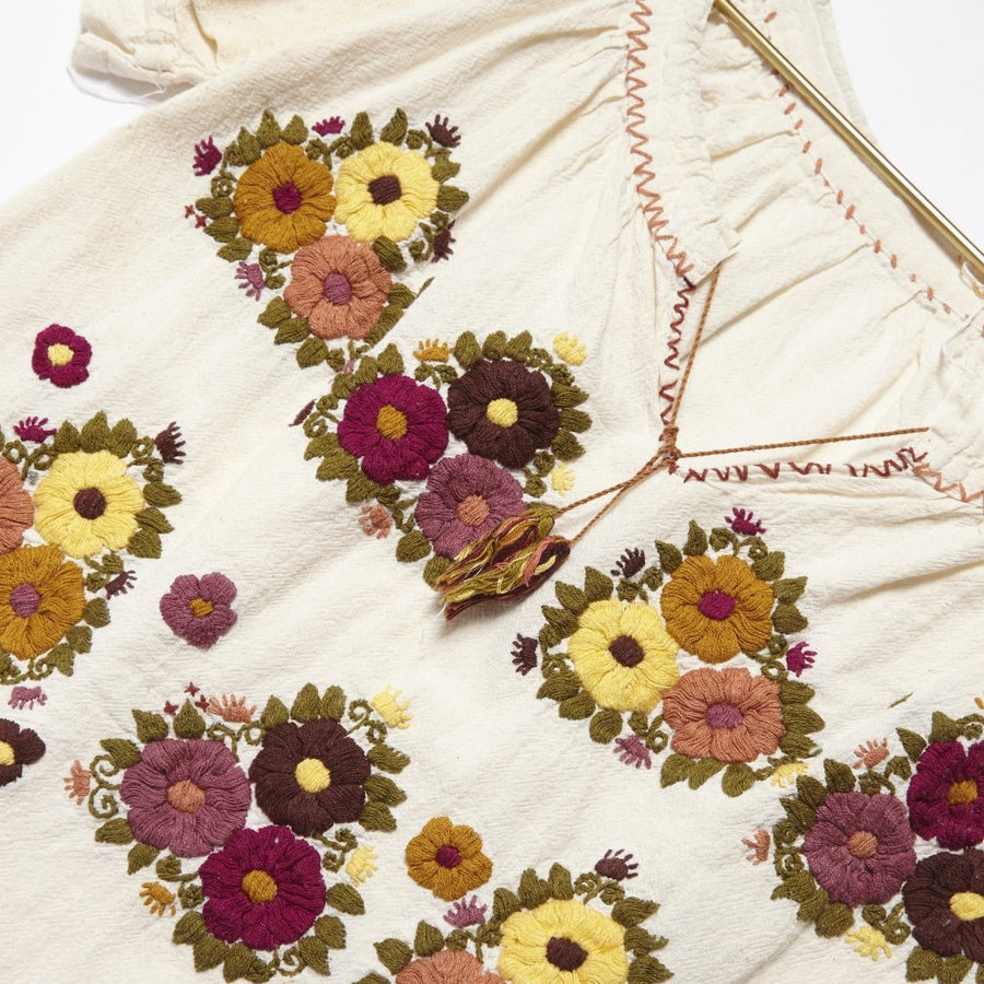 Geom-Flower Embroidered Shirt