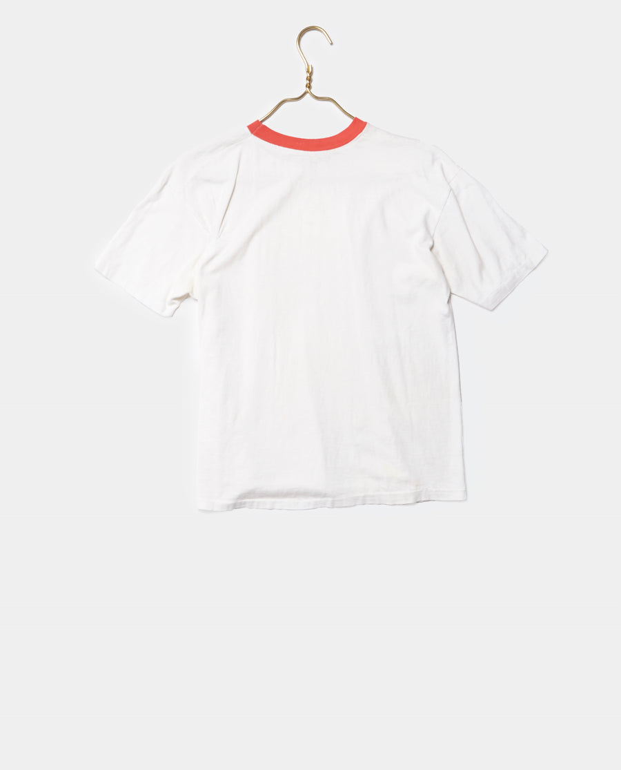 Red Accent Collar Tee
