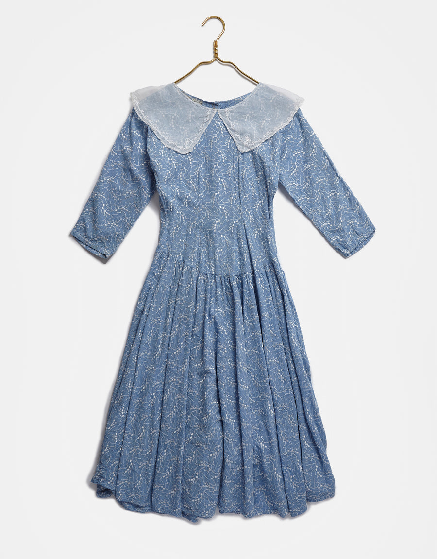 Baby Blue Indian Cotton Dress