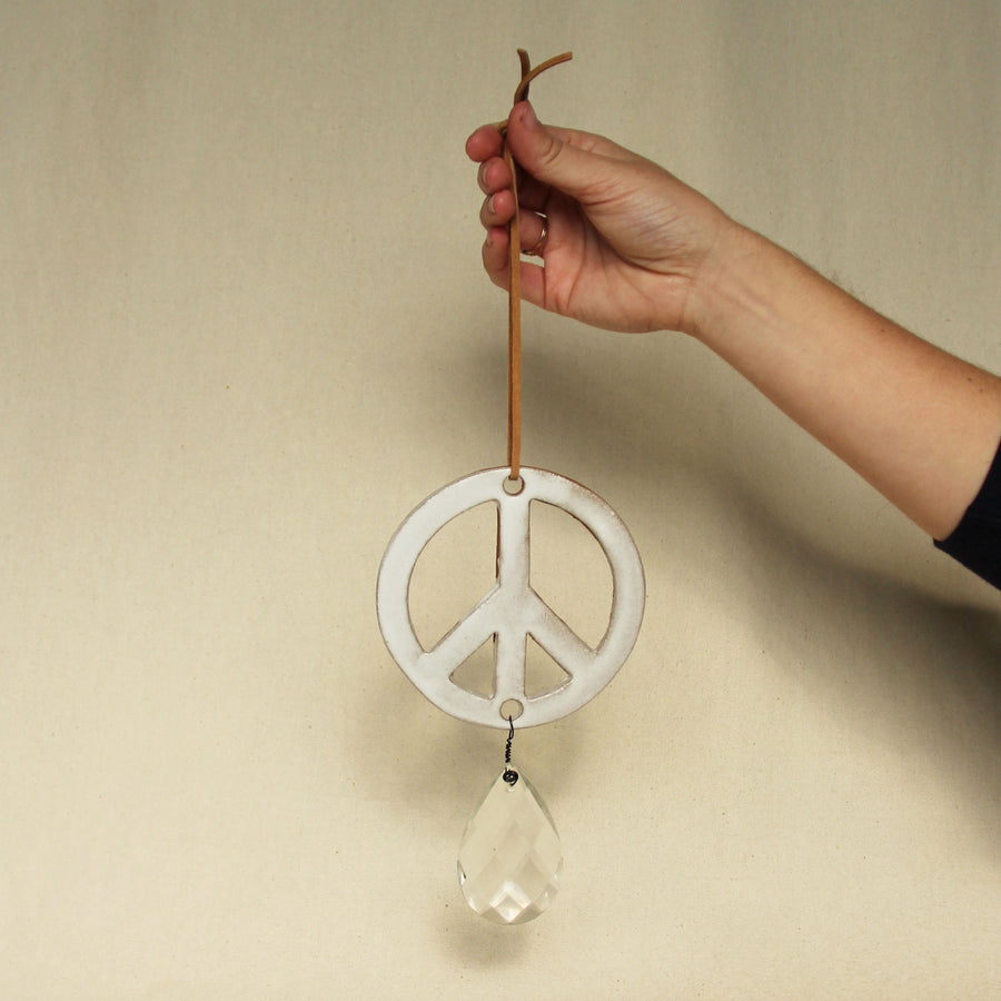 Ceramic Peace Sign
