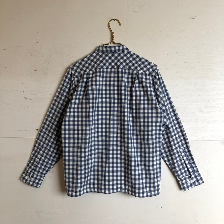 Yellow Rat Blue Checkered Button Down Shirt