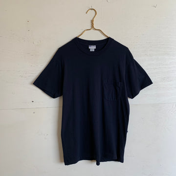 Yellow Rat Solid Navy Pocket Tee
