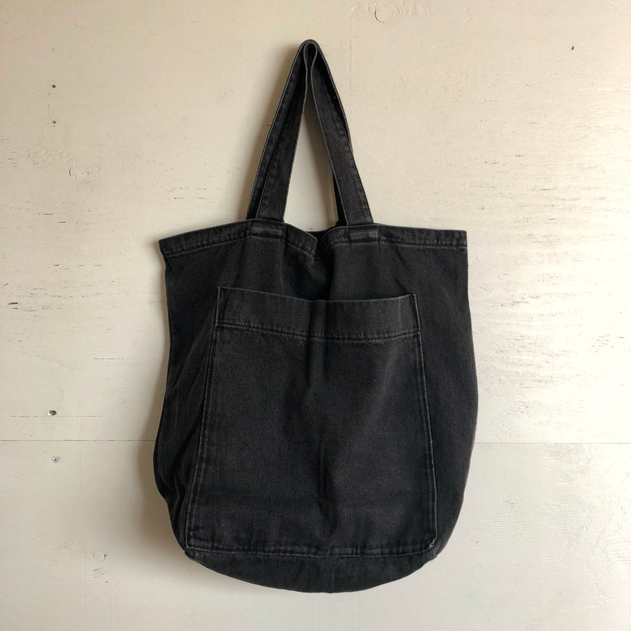 Baggu Giant Pocket Tote Washed Black