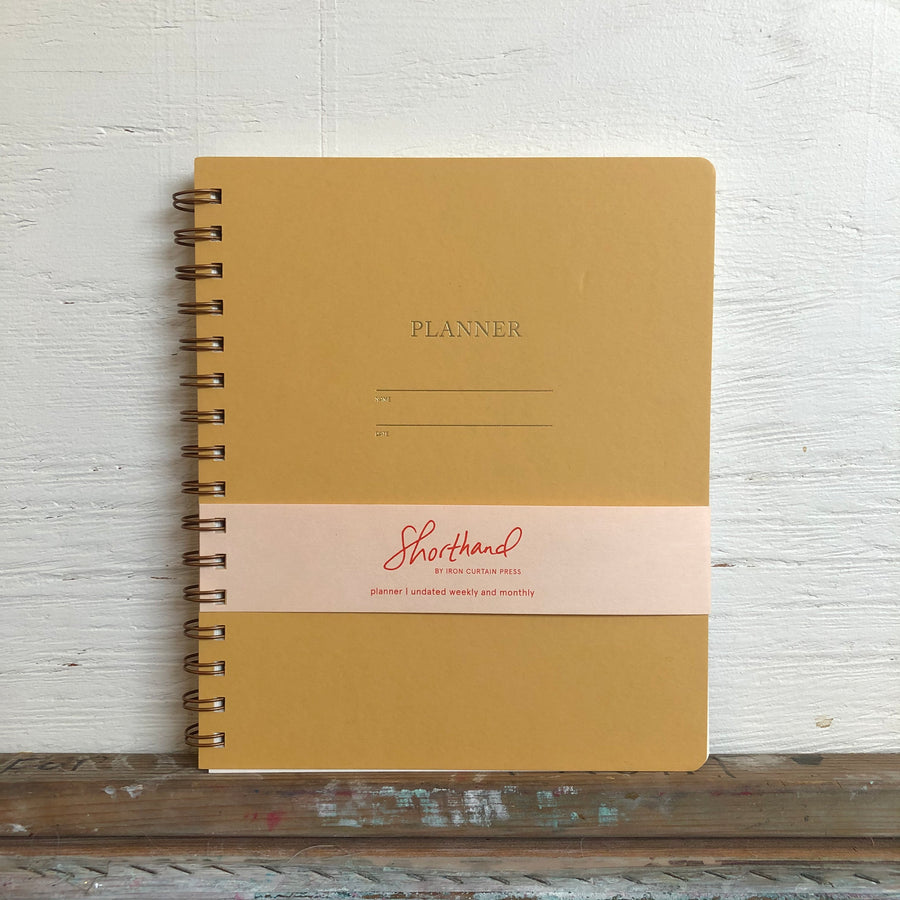 Iron Curtain Press Planner - Mustard