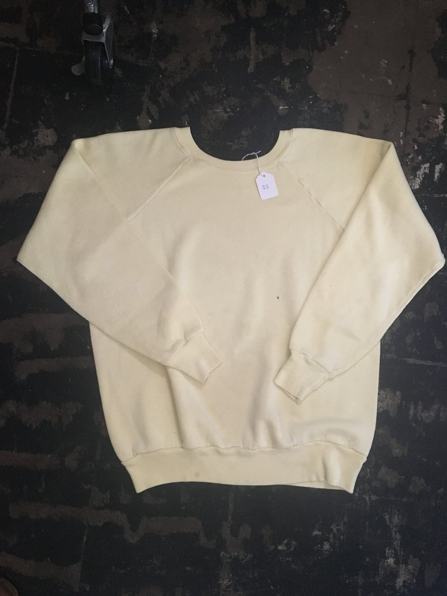Vintage Yellow Crewneck Sweatshirt