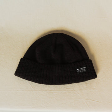 Ola Canvas Shore Cap Beanie - Black