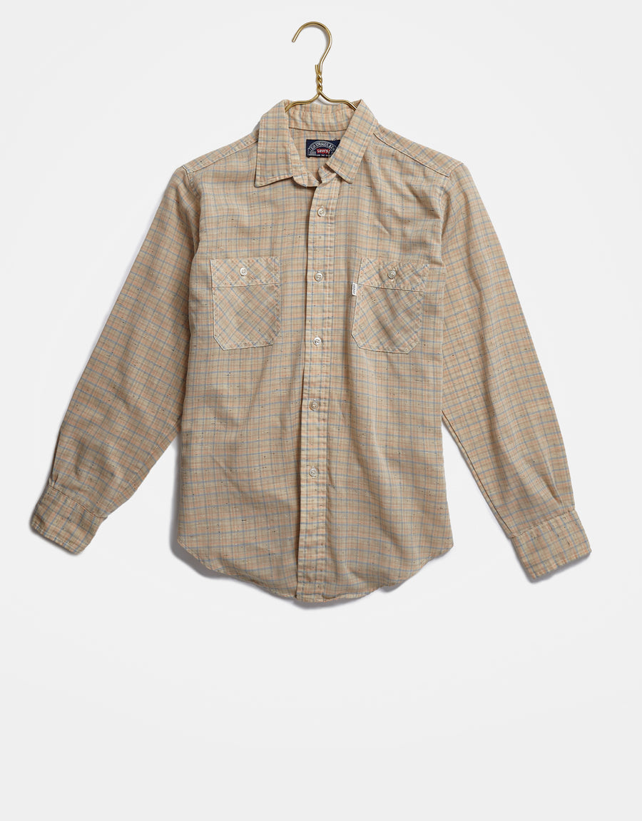 Speckled Tan Levi's Button Up