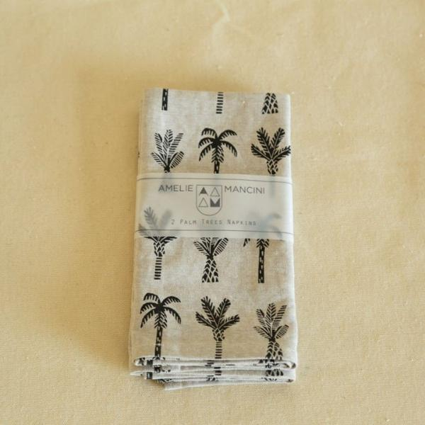 Amelie Mancini Palm Tree Napkins