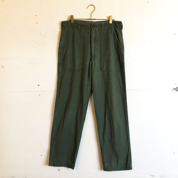 Army Green Cotton Pants