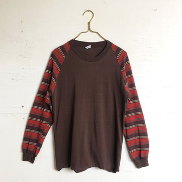 Brown Stripe Long Sleeve Tee