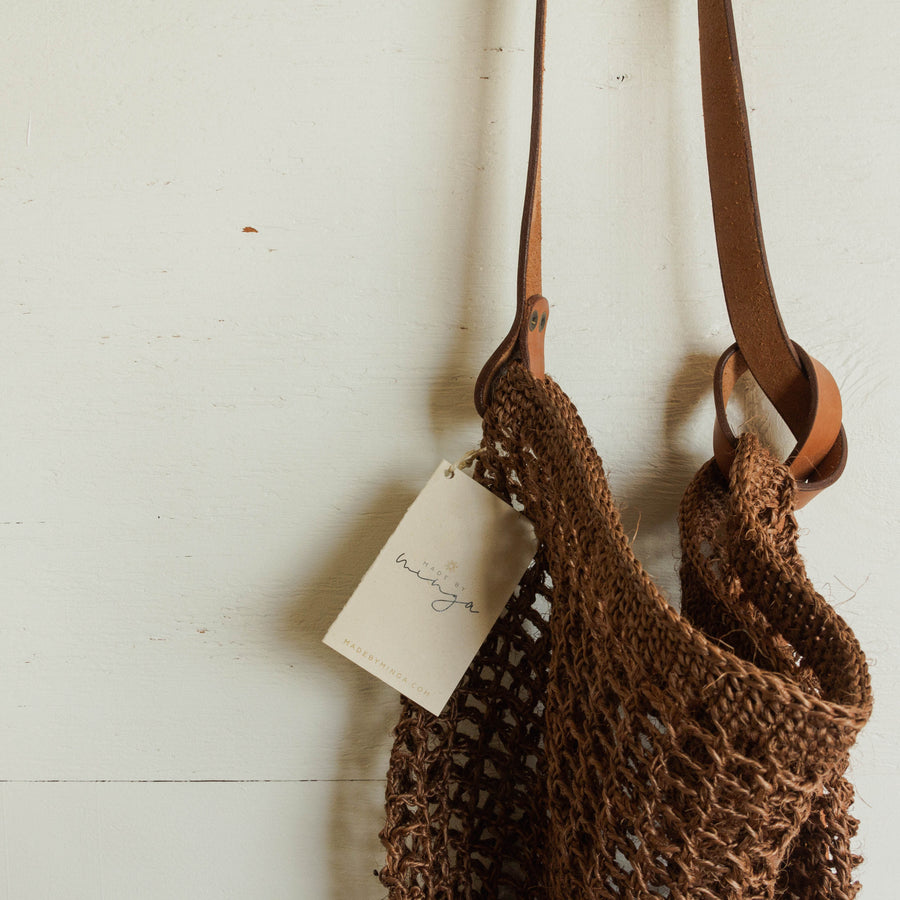 Made by Minga 'Maria' Market Bag - Chocolate