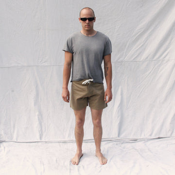 Gato Heroi Olive/Blood Surf Shorts
