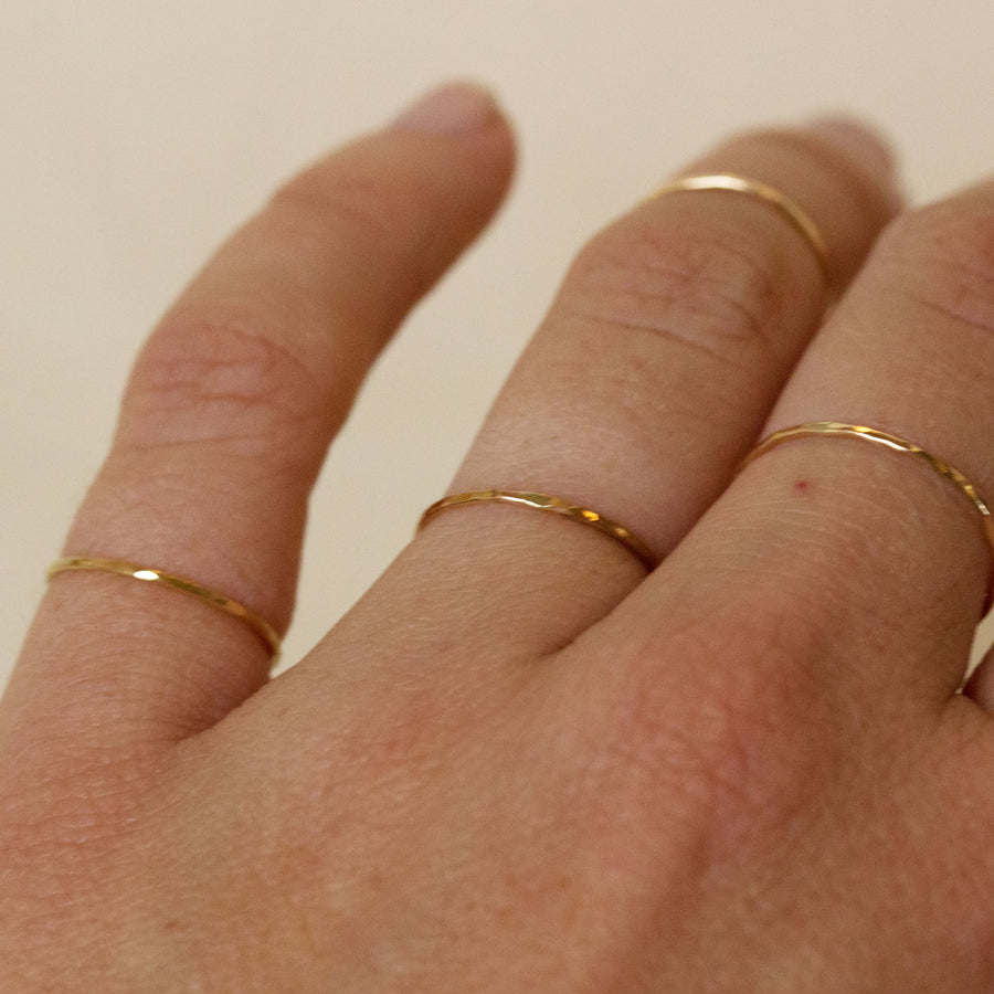 Totem Thin 14K Gold Ring