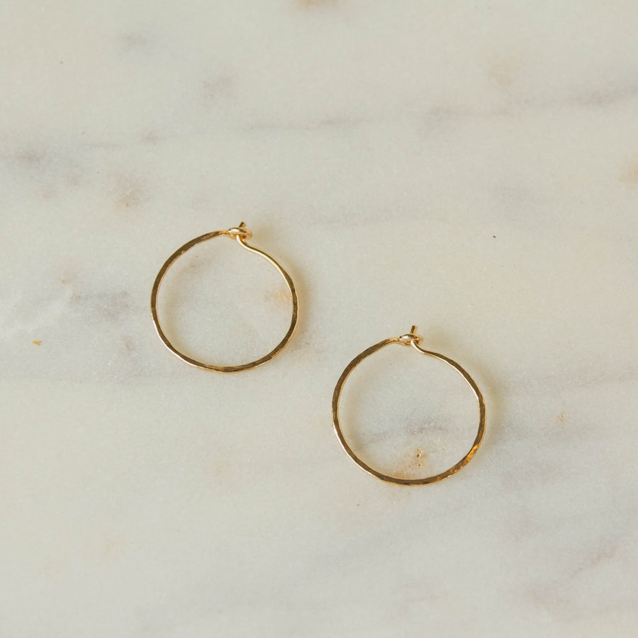 Earthen 14K Gold Hoops