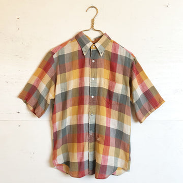 Plaid Short Sleeve Button Down