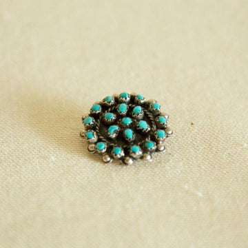 Vintage Small Turquoise Pin