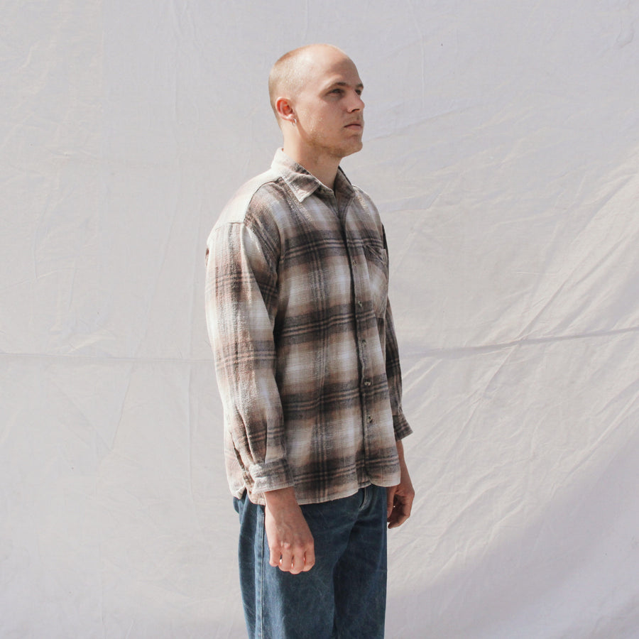 Earth Tone Plaid Flannel