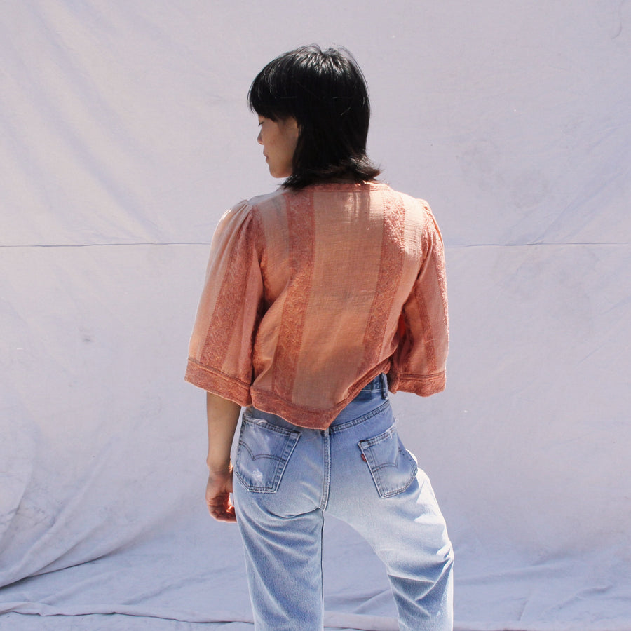 Peach Indian Cotton Blouse