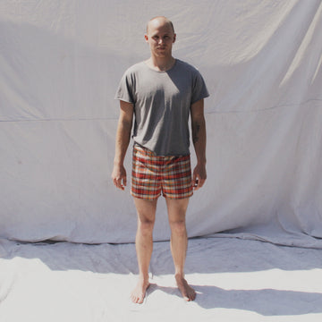 Plaid Canvas Trunks
