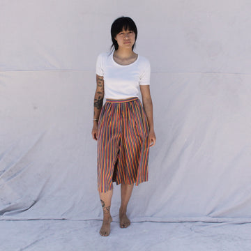 Striped Cotton Culottes