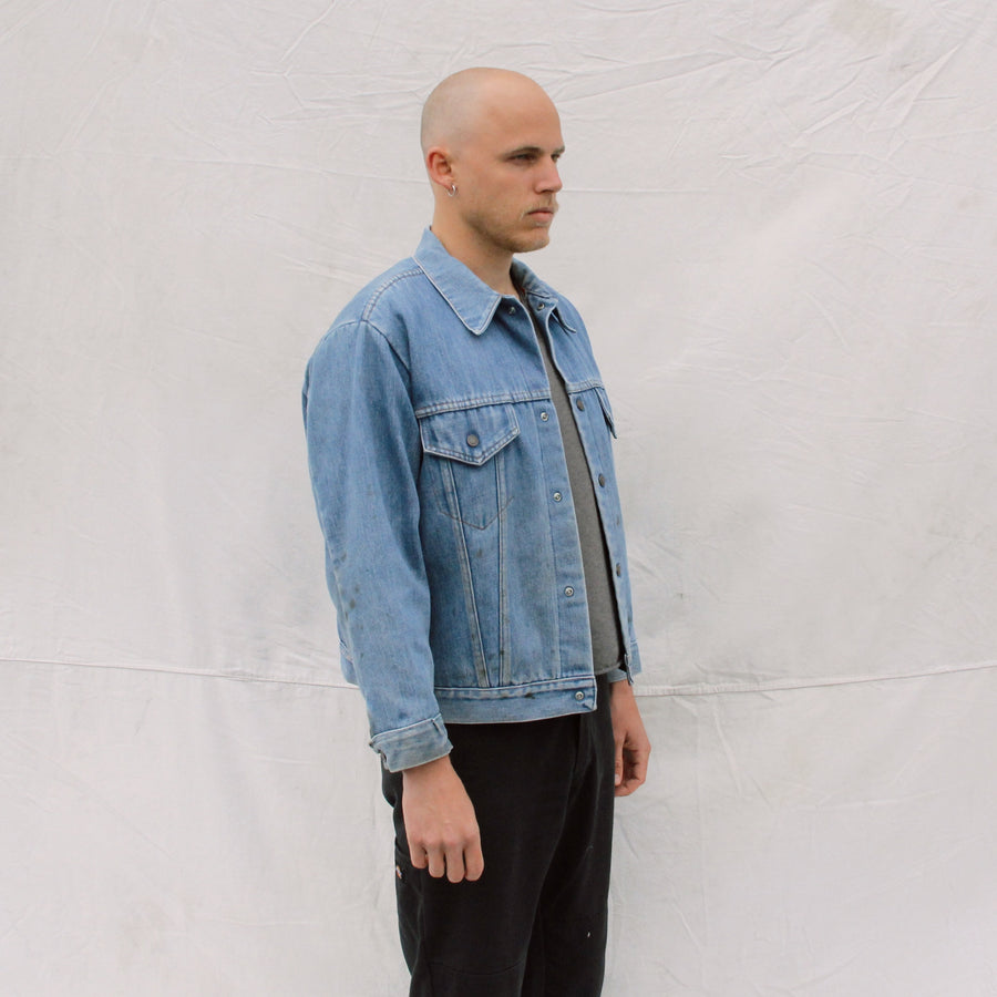 Denim Jacket with Quilted Lining