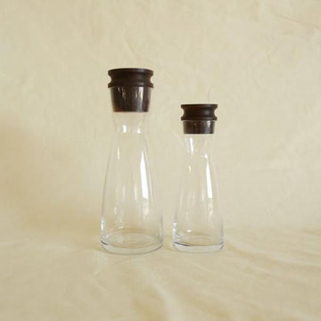 Walnut and Glass Carafe