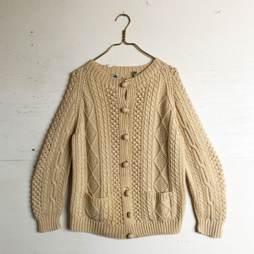 Vintage Wool Knitted Cardigan