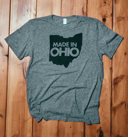 """Made In Ohio"" Heather Grey Tri-blend Unisex"