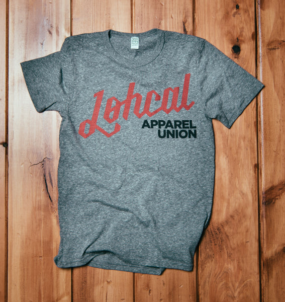 "The ""Lohcal Apparel"" Shirt Grey Tri-blend Unisex"