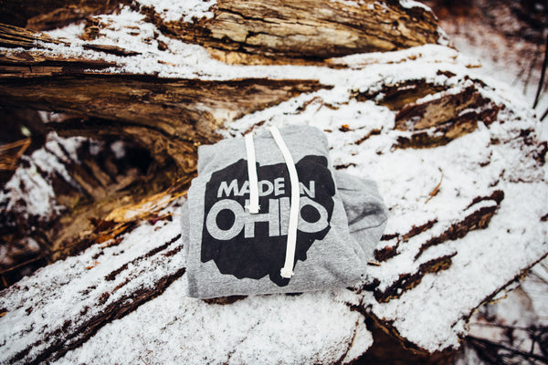 """Made In Ohio"" Hoodie Grey"