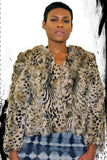 Anna Sui Short Leopard Rabbit Jacket - LoveBeautyRocks