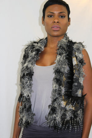 Anna Sui Ombre Multi Grey colored vest - LoveBeautyRocks