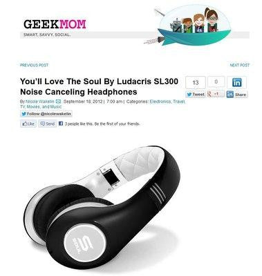 YOU'LL LOVE THE SOUL BY LUDACRIS SL300 NOISE CANCELING HEADPHONES