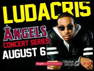LUDACRIS PERFORMING LIVE AT ANGEL STADIUM...