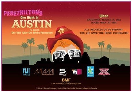 SOUL HEADS TO SOUTH BY SOUTHWEST THIS WEEKEND WITH PEREZ HILTON AND VH1'S SAVE THE MUSIC FOUNDATION!