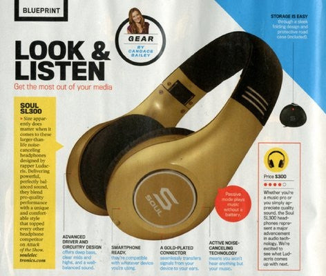 SOUL HEADPHONES IN MEN'S FITNESS JULY 2012