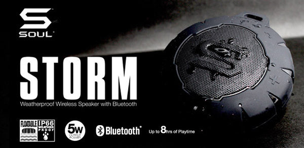 STORM - WEATHERPROOF WIRELESS SPEAKER WITH BLUETOOTH