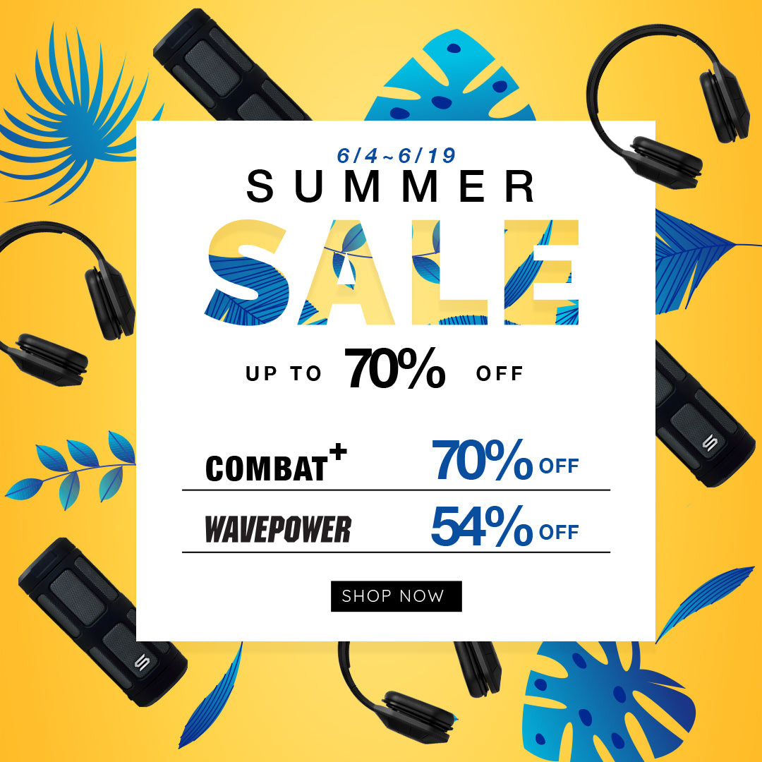 SOUL Electronics 2018 Summer Sales Combat+ Sport Headphone Wavepower Wireless Bluetooth Waterproof Speaker