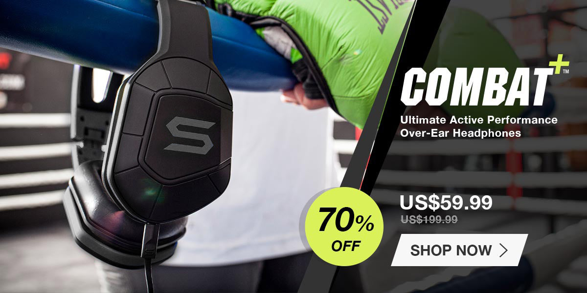 combat+ over-ear sport headphone