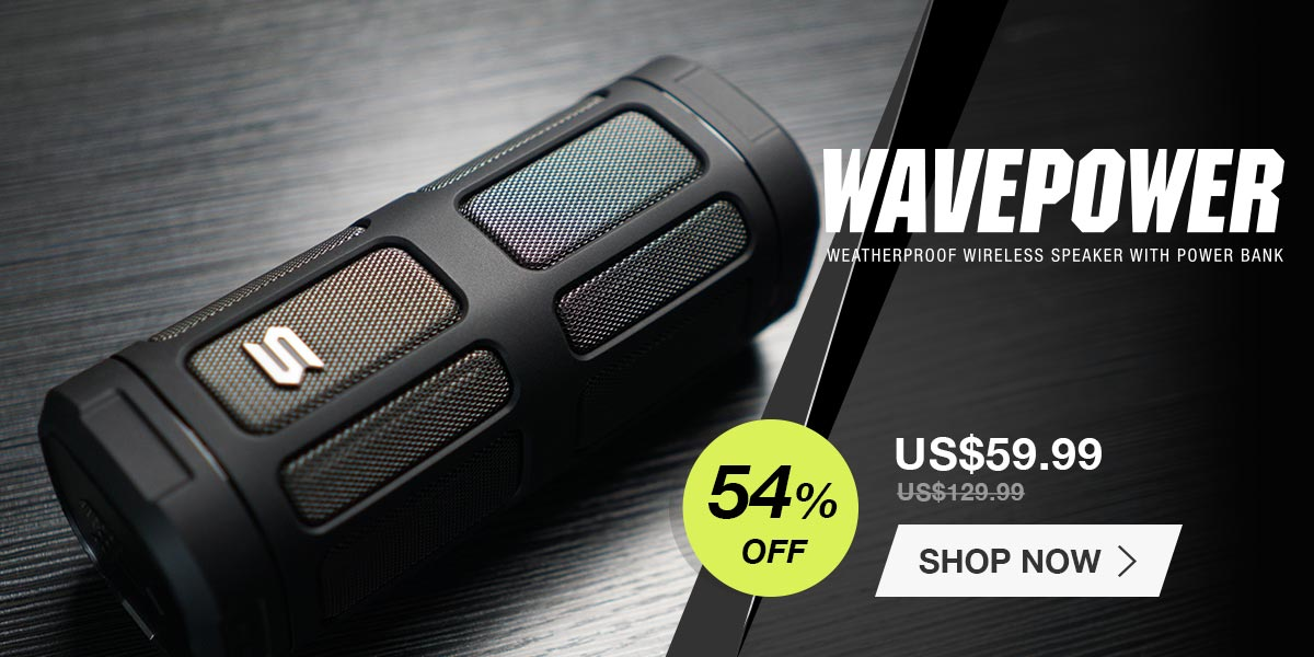 wavepower wireless bluetooth waterproof speakers